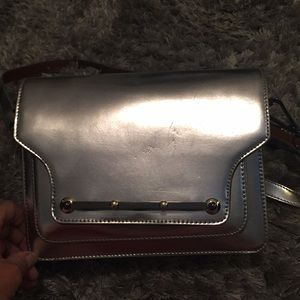 Vince Camuto Metallic Silver Shoulder Bag